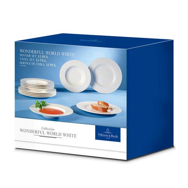 Wonderful World White tafelset, 12-delig, , large