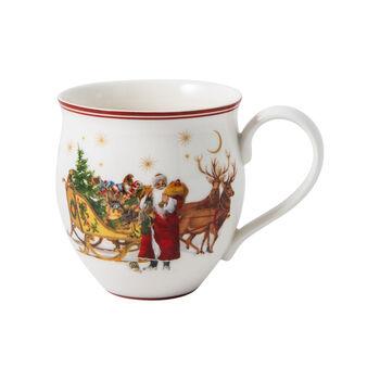Toy's Delight mug à anse, Père Noël avec traîneau, multicolore/vert/rouge, 340ml
