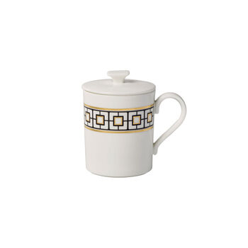 MetroChic Gifts mug à café avec couvercle 11,5x8,5x11cm