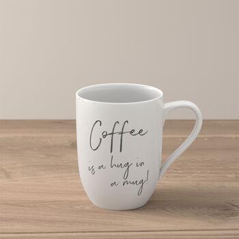 "Statement beker ""Coffee is a hug in a mug"""