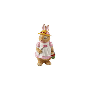 Bunny Tales grote figuur Anna, 10,5 x 11 x 22 cm, roze/bruin