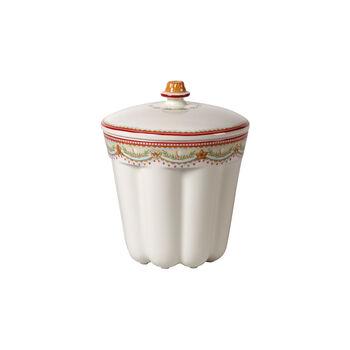 Winter Bakery Delight petite boîte en forme de kouglof, rouge/multicolore, 13x13x16cm, 720ml