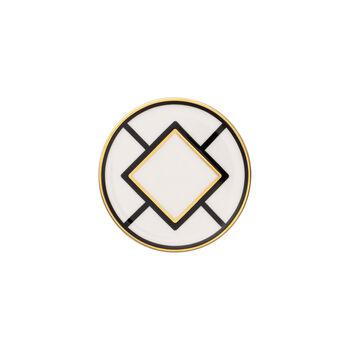 MetroChic dessous de verre, diamètre 11cm, blanc-noir-or