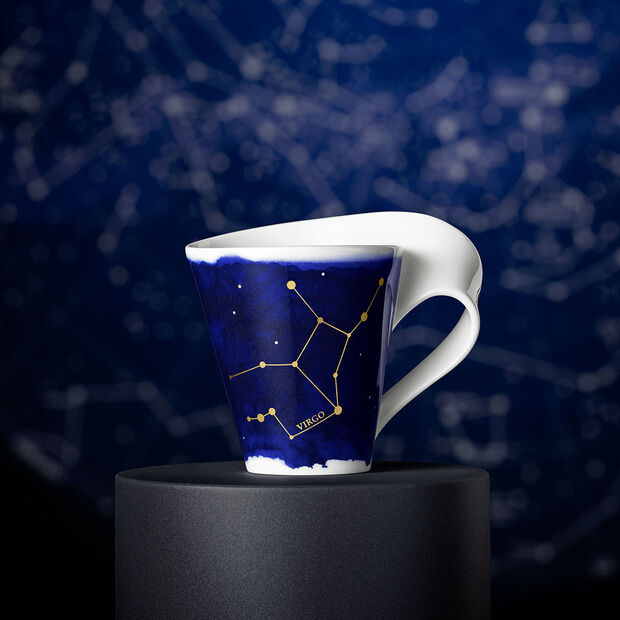 NewWave Stars beker Maagd, 300 ml, blauw/wit, , large