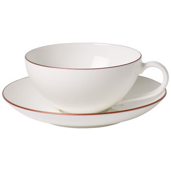 Anmut Rosewood Tasse à thé avec soucoupe 2pcs