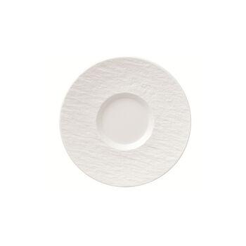 Manufacture Rock Blanc sous-tasse à café, blanche, 15,5x15,5x2cm