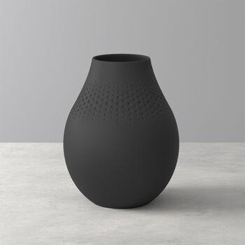 Manufacture Collier noir Vase Perle haut 16x16x20cm
