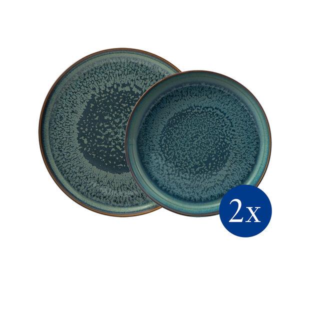 Crafted Breeze tafelset, grijsblauw, 4-delig, , large