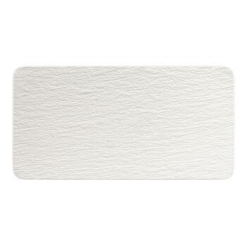 Manufacture Rock Blanc rechthoekige serveerschaal, wit, 35 x 18 x 1 cm