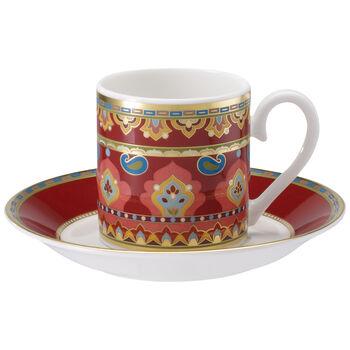 Samarkand Rubin Mokkakop en -schotel