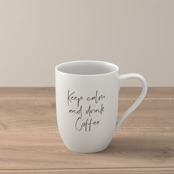 """Statement beker """"Keep calm and drink coffee"""""""