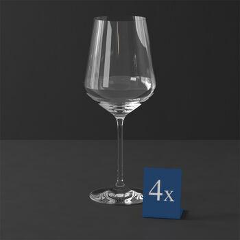 La Divina bordeaux-glas, set 4-delig 252mm