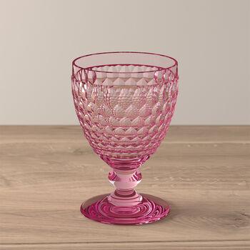 Boston Coloured rode-wijnglas rose