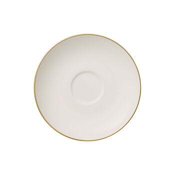 Anmut Gold theeschoteltje, diameter 15 cm, wit/goud
