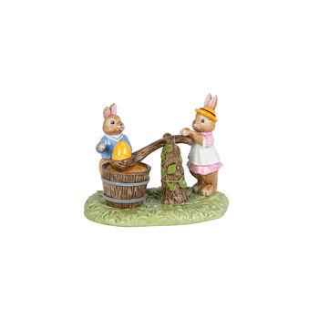 Bunny Tales figuur eieren verven, gekleurd