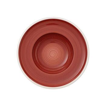 Manufacture rouge Assiette creuse 25cm
