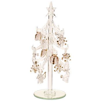 Winter Collage Accessoires Glazen boom ornamenten 8cm