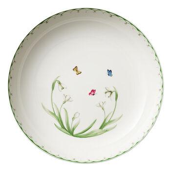 Colourful Spring grand saladier, 5,2l, blanc/vert