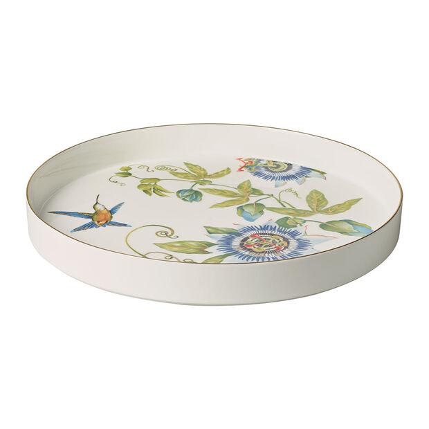 Amazonia coupe à servir et décorative, diamètre 33cm, profondeur 4cm, blanc/multicolore, , large