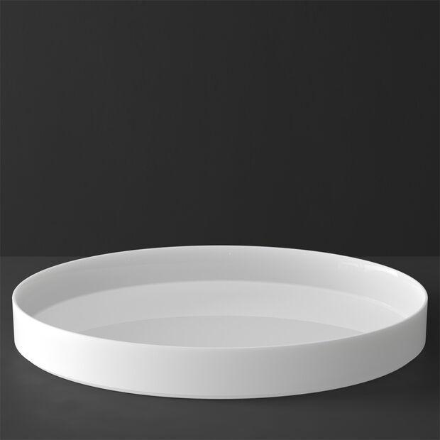 MetroChic blanc Gifts Serveer/Deco schaal 33x33x4cm, , large