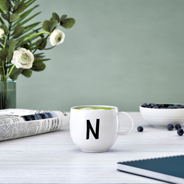 Mug Letters N 13x10x8cm, , large