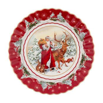 Toy's Fantasy grande coupe Père Noël avec animaux de la forêt, multicolore/rouge/blanc, 25x25x5cm
