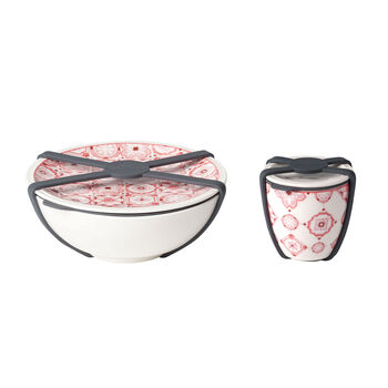 like.by Villeroy & Boch To Go salade-set, 2-delig, Coral