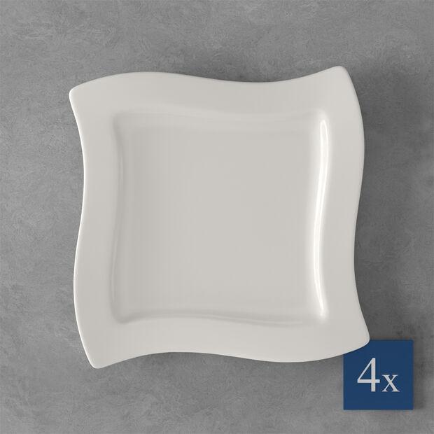 NewWave ontbijtbord, vierkant, 4 stuks, , large