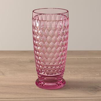 Boston Coloured longdrinkglas rose
