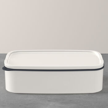 ToGo&ToStay lunchbox, 20x13x6cm, hoekig, wit