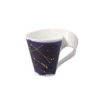 NewWave Stars beker Tweelingen, 300 ml, blauw/wit