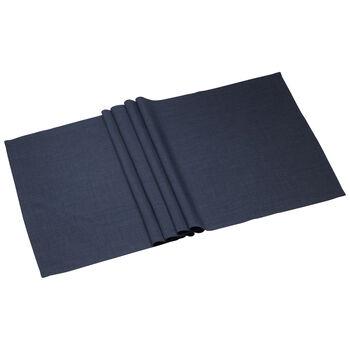 Textil Uni TREND Runner vintage blauw 50x140cm