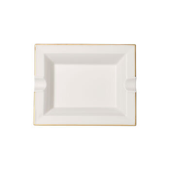 Anmut Gold asbak, 17 x 21 cm, wit/goud