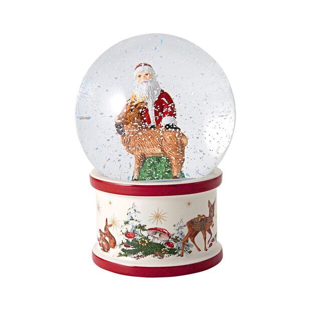 Christmas Toy's boule à neige Père Noël et cerf, 13x13x17cm, , large