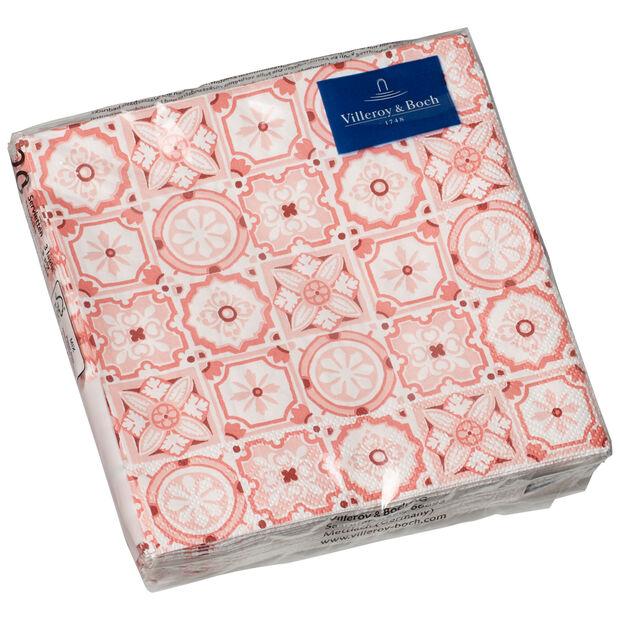 Serviettes en papier Rose Caro, 20pièces, 25x25cm, , large