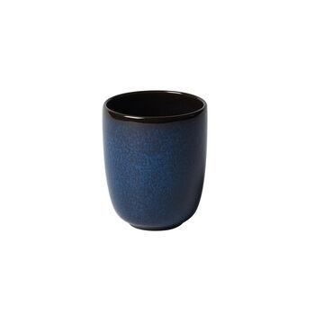 Lave bleu beker zonder oor 9x9x10,5cm