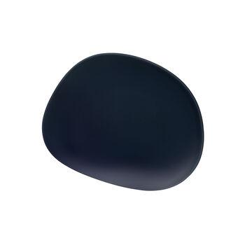 Organic Dark Blue ontbijtbord, donkerblauw, 21 cm