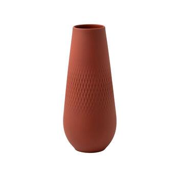 Manufacture Collier terre vase haut, Carré, 11,5x11,5x26cm