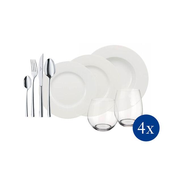 Wonderful World White 4 Friends 36-delige tafel-set, , large
