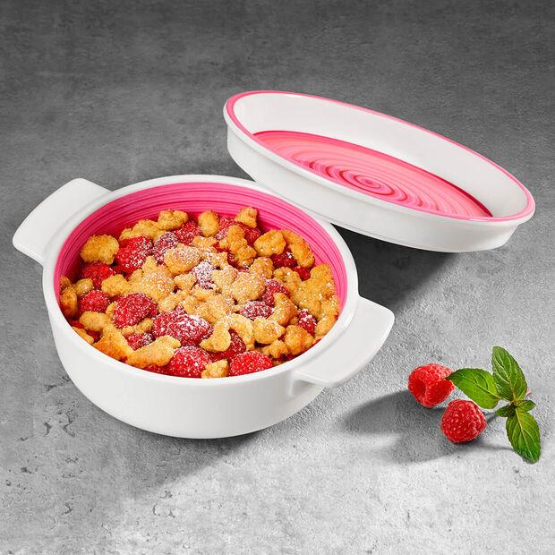 Clever Cooking Pink ronde serveerschaal 17 cm, , large