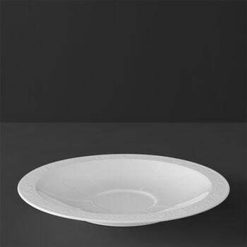 White Pearl sous-tasse à cappucino