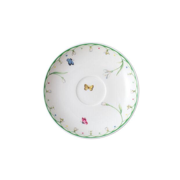 Colourful Spring sous-tasse à expresso, blanc/vert, , large