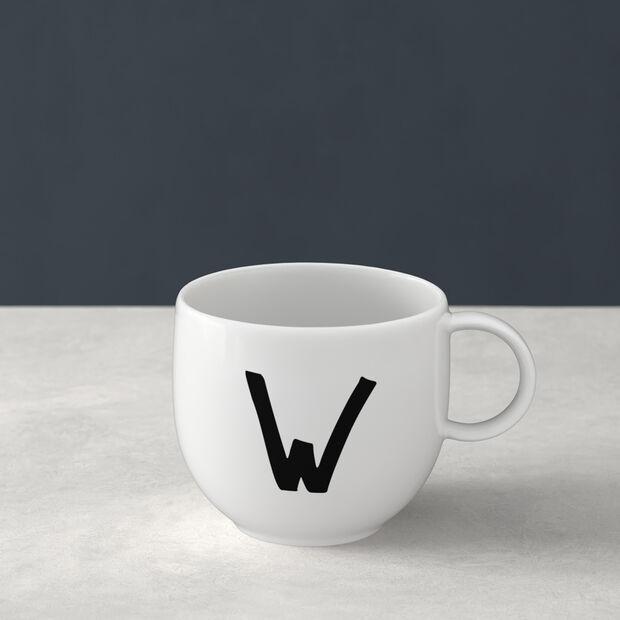 Mug Letters W 13x10x8cm, , large