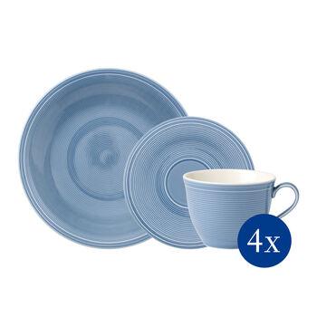 Color Loop Horizon koffie-set, hemelsblauw, 12-delig