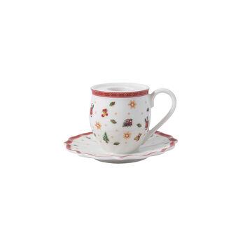 Toy's Delight Decoration bougeoir en forme de mug à anse, 10x6cm