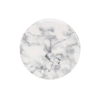 Marmory assiette à dessert blanche, 21x21x1,5cm