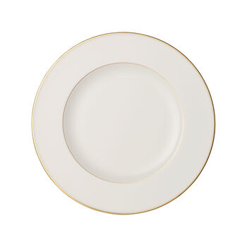 Anmut Gold eetbord, diameter 27 cm, wit/goud