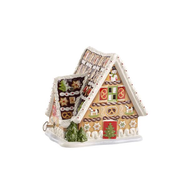 Christmas Toys Peperkoekhuisje met speeldoos 16x13x16cm, , large