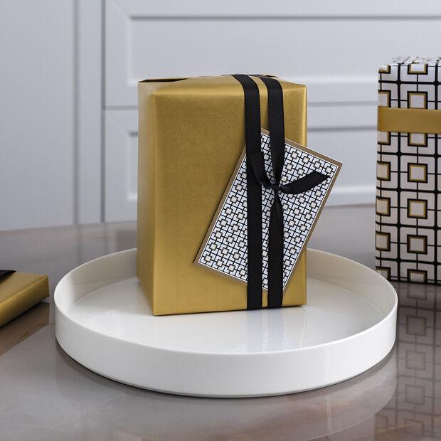 MetroChic blanc Gifts Coupe à servir / décorative 33x33x4cm, , large