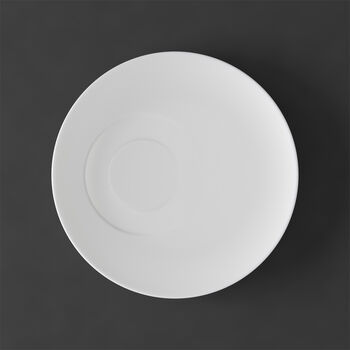 MetroChic blanc Soucoupe tasse à thé 18,5x18,5x2cm